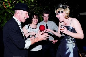 entertainment performed by roving magician Glen Rhodes.